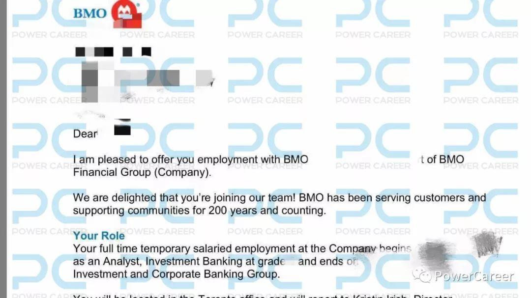 Offer | 通过Networking拿下BMO 投行Investment Banking offer的她,有这些话想跟你分享