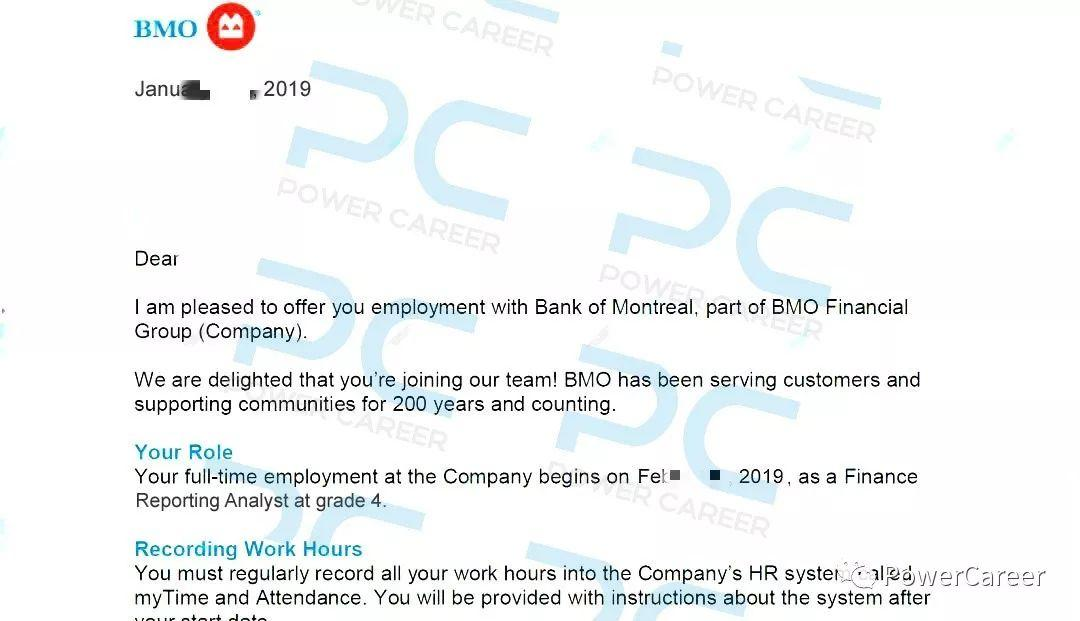Offer 捷报 | 恭喜 Infinite 学员斩获BMO Business Reporting Analyst offer!